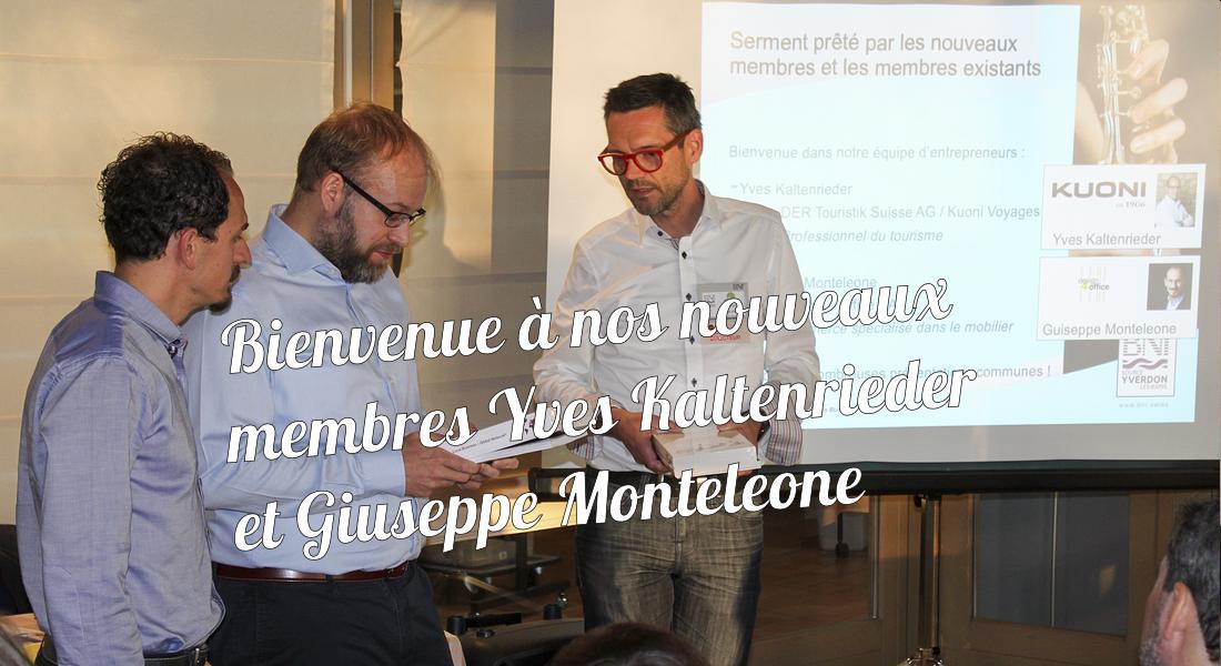 Intronisations Yves Kaltenrieder et Giuseppe Monteleone