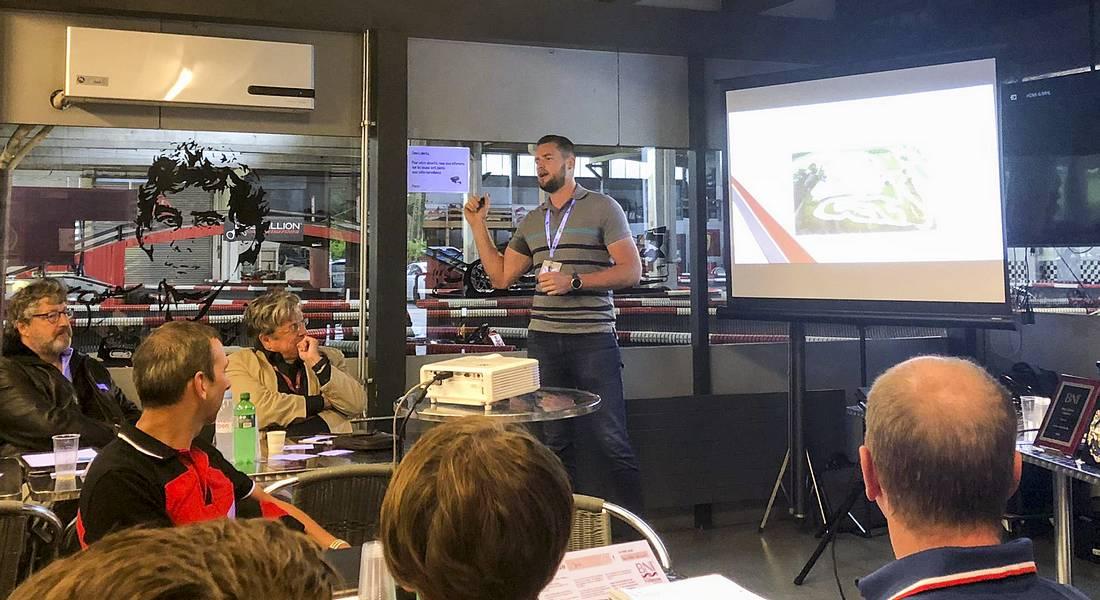 Présentation du karting par Matthieu Genoud