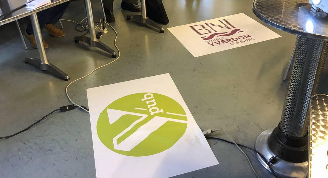 Séance BNI Source Yverdon avec tapis de sol Y-Pub